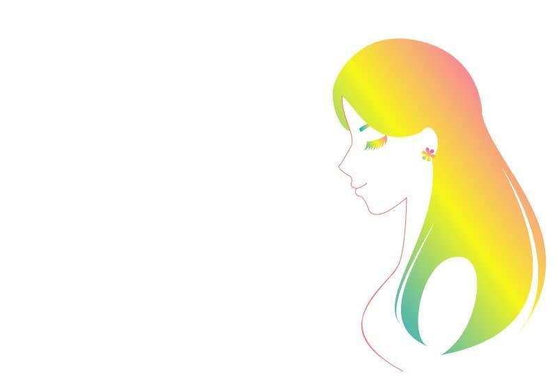 健康的で美しい髪の毛