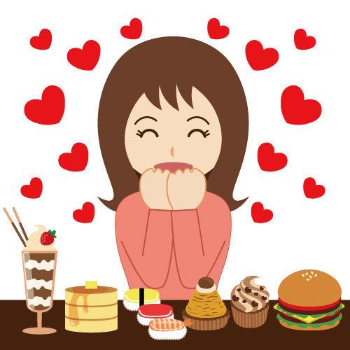 好きな食事を我慢できずにダイエットができない女性