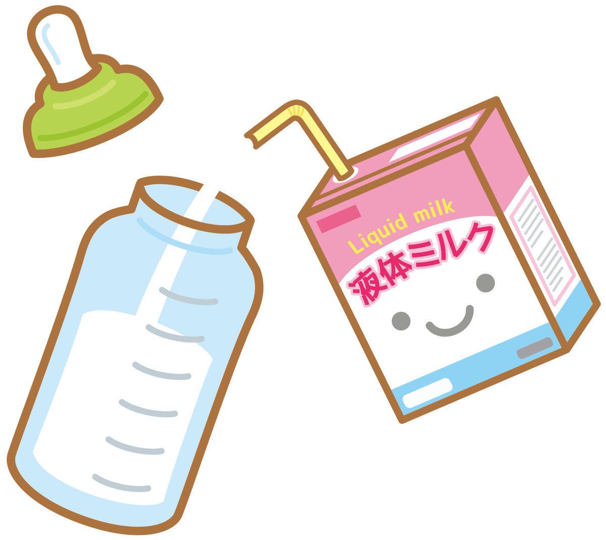 赤ちゃんのミルク