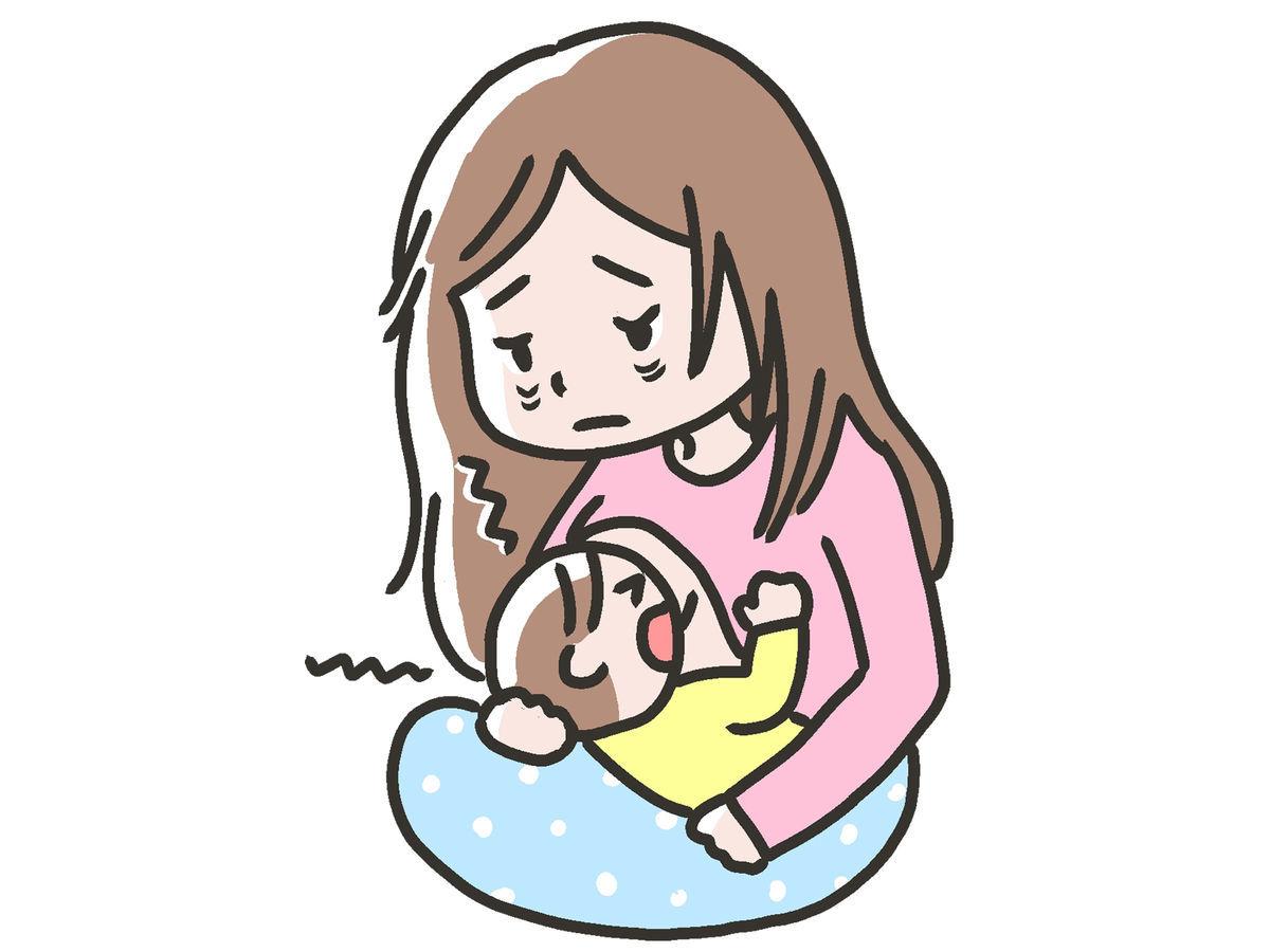 赤ちゃんへの授乳に悩むママ