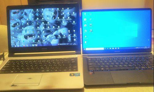 古いパソコンと新しいパソコン