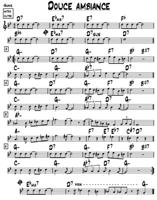 ジプシージャズ・ジャンゴラインハルトのドゥースアンビヤンス/douce ambianceの楽譜