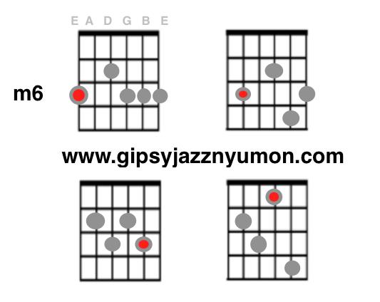 ジプシージャズのm6コード表