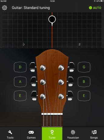 ギターチューナーのアプリ
