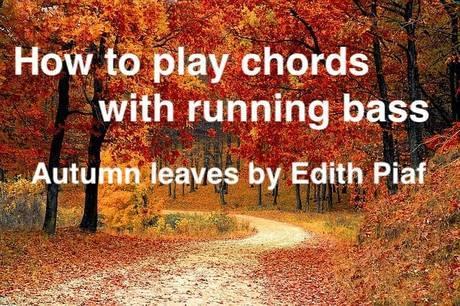 枯葉をランニングベース付きのコードで弾く方法