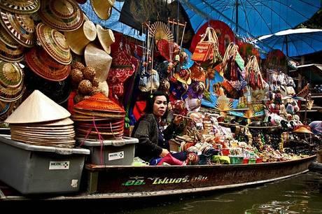 タイ、水上マーケット