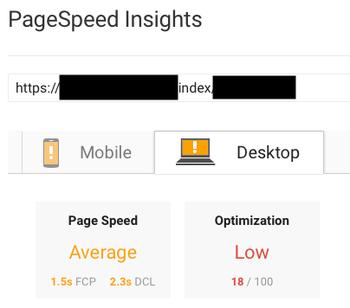 ページ速度が遅いのに検索上位のサイト