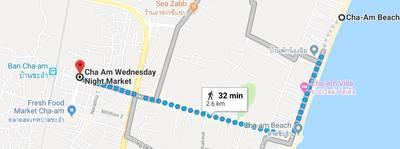 チャアムナイトマーケットの地図