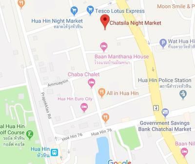 ホアヒンのチャットシラ ナイトマーケットの地図