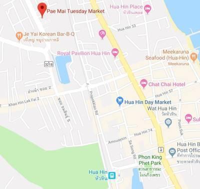 パエマイマーケットの地図
