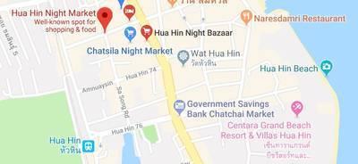 ホアヒンのホアヒンナイトマーケットの地図