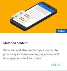関連コンテンツは英語でMatched content
