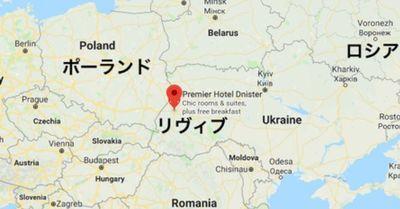 ウクライナのリヴィブの地図