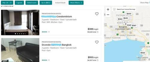 タイ・バンコクのコンドミニアムに泊まる値段
