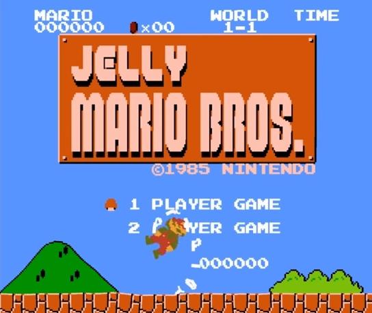 クラゲのようなゼリー状スーパーマリオ「Jelly Super Mario Bros.」
