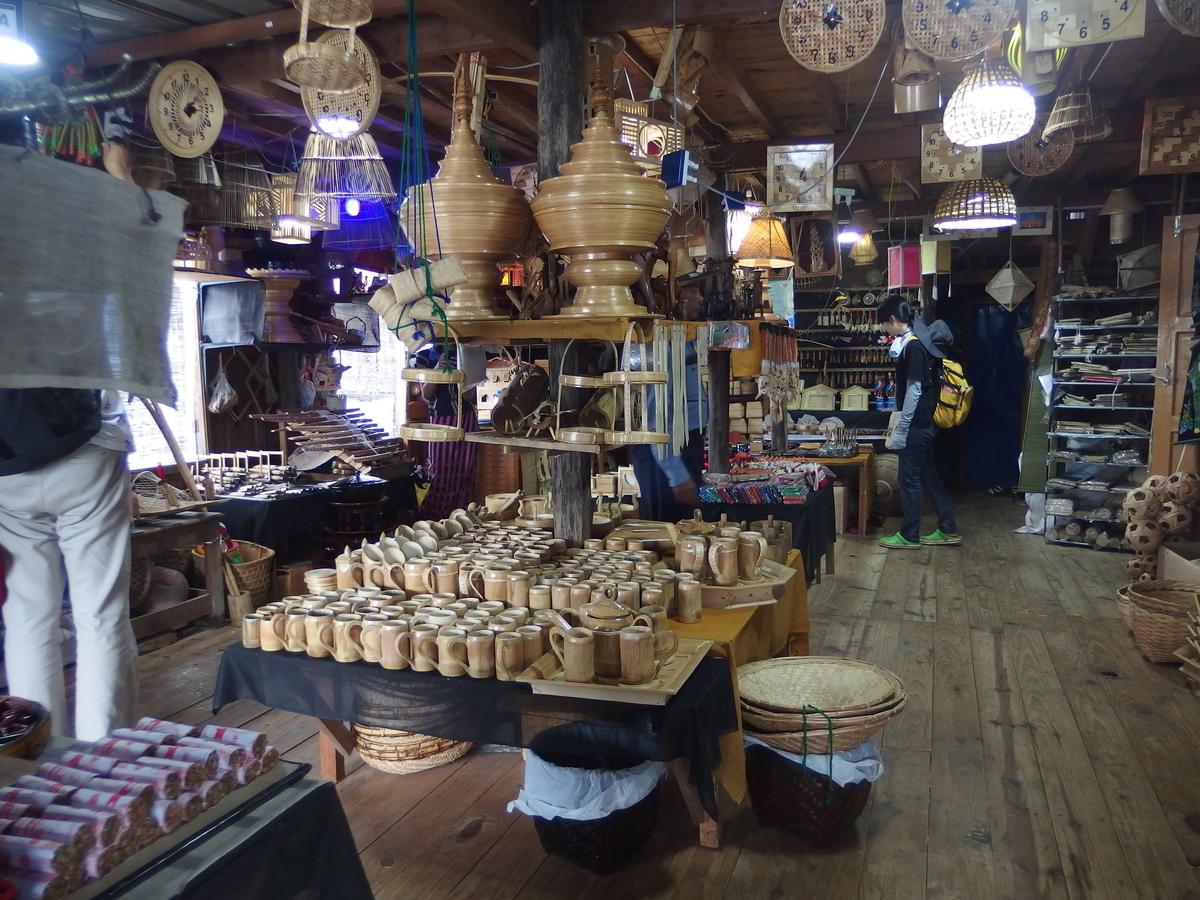 ミャンマーの竹細工