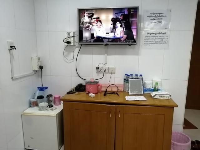病室の写真。