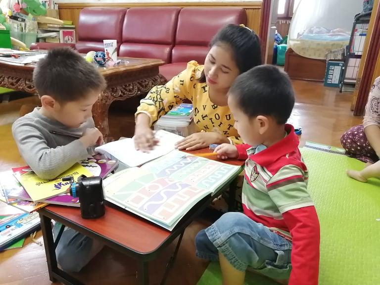 家庭教師と小学生