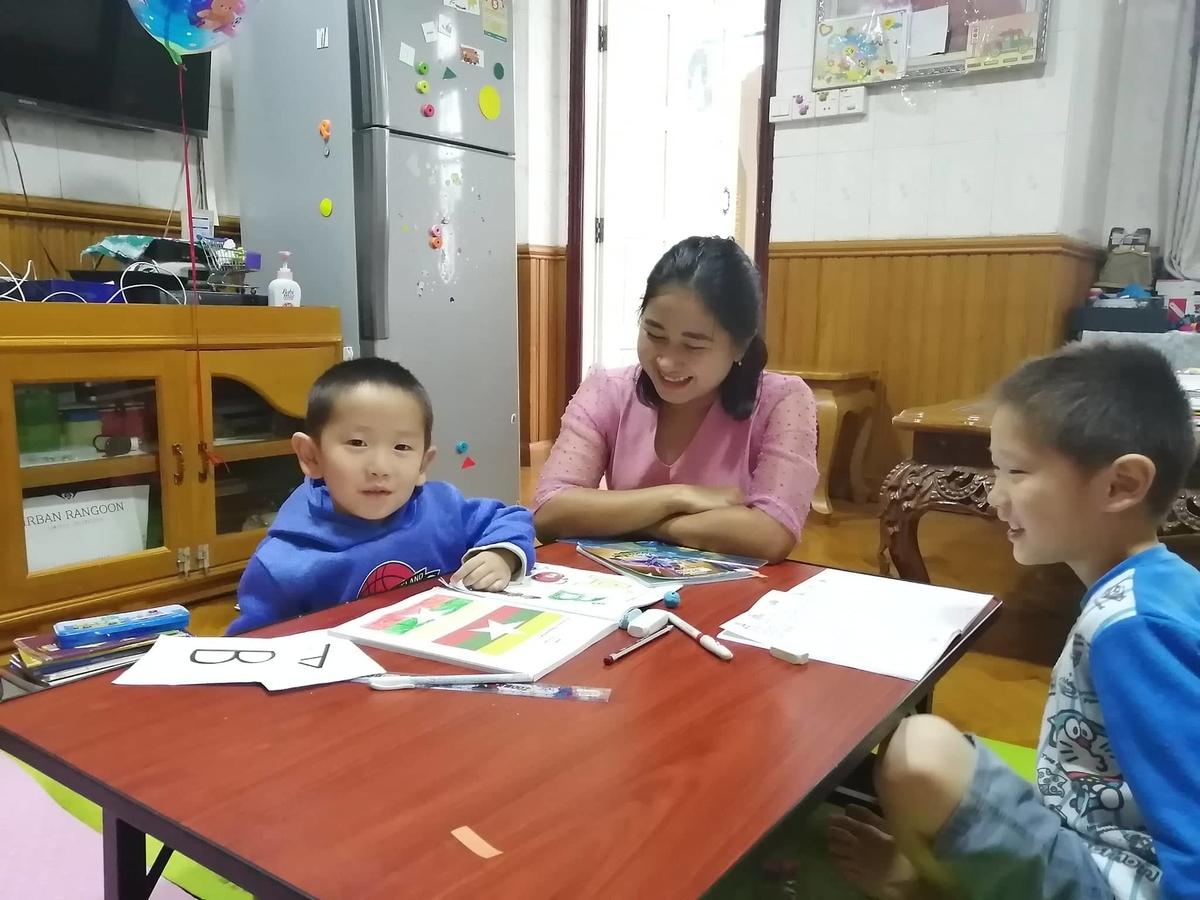 家庭教師と幼児