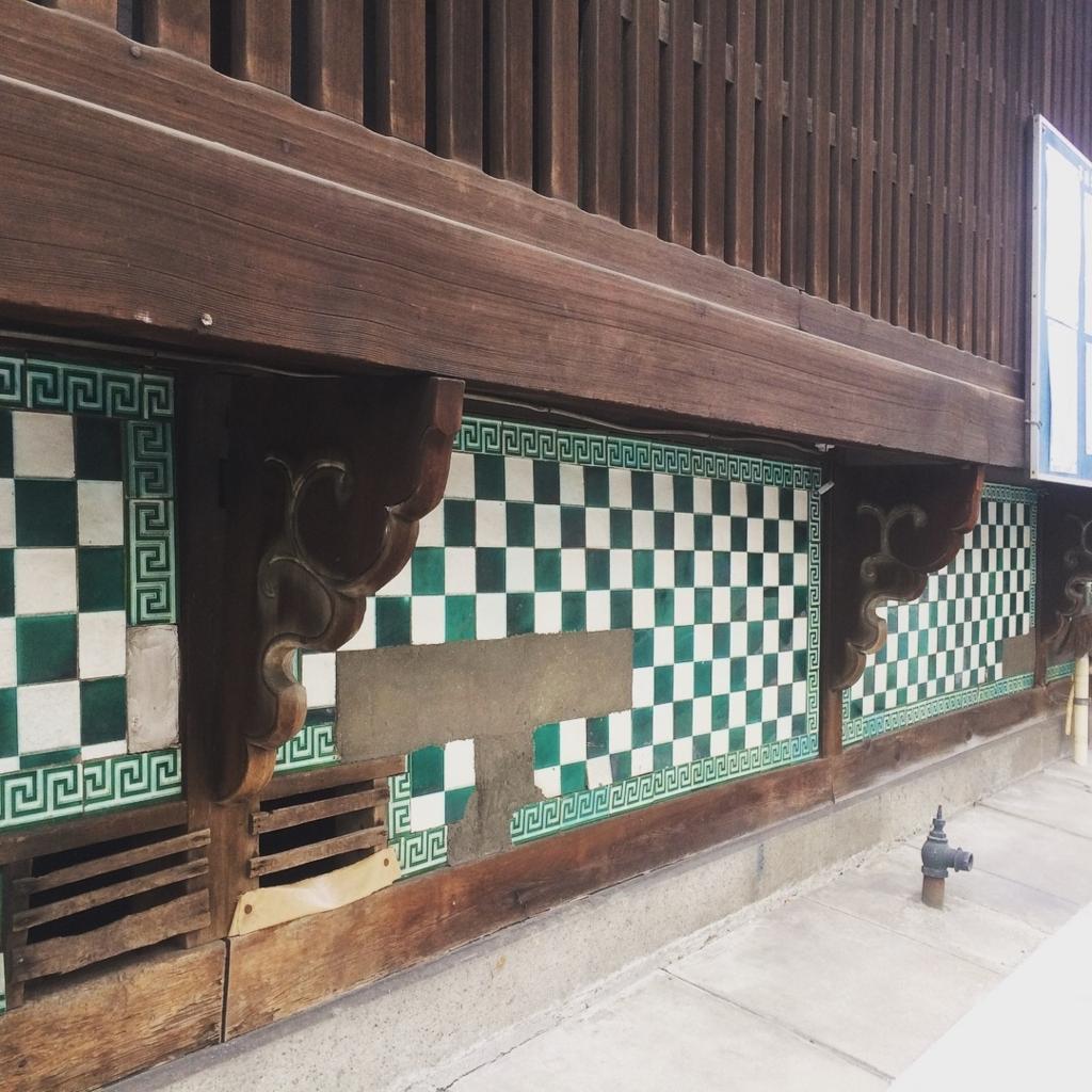 タイル貼りの楼跡イメージ