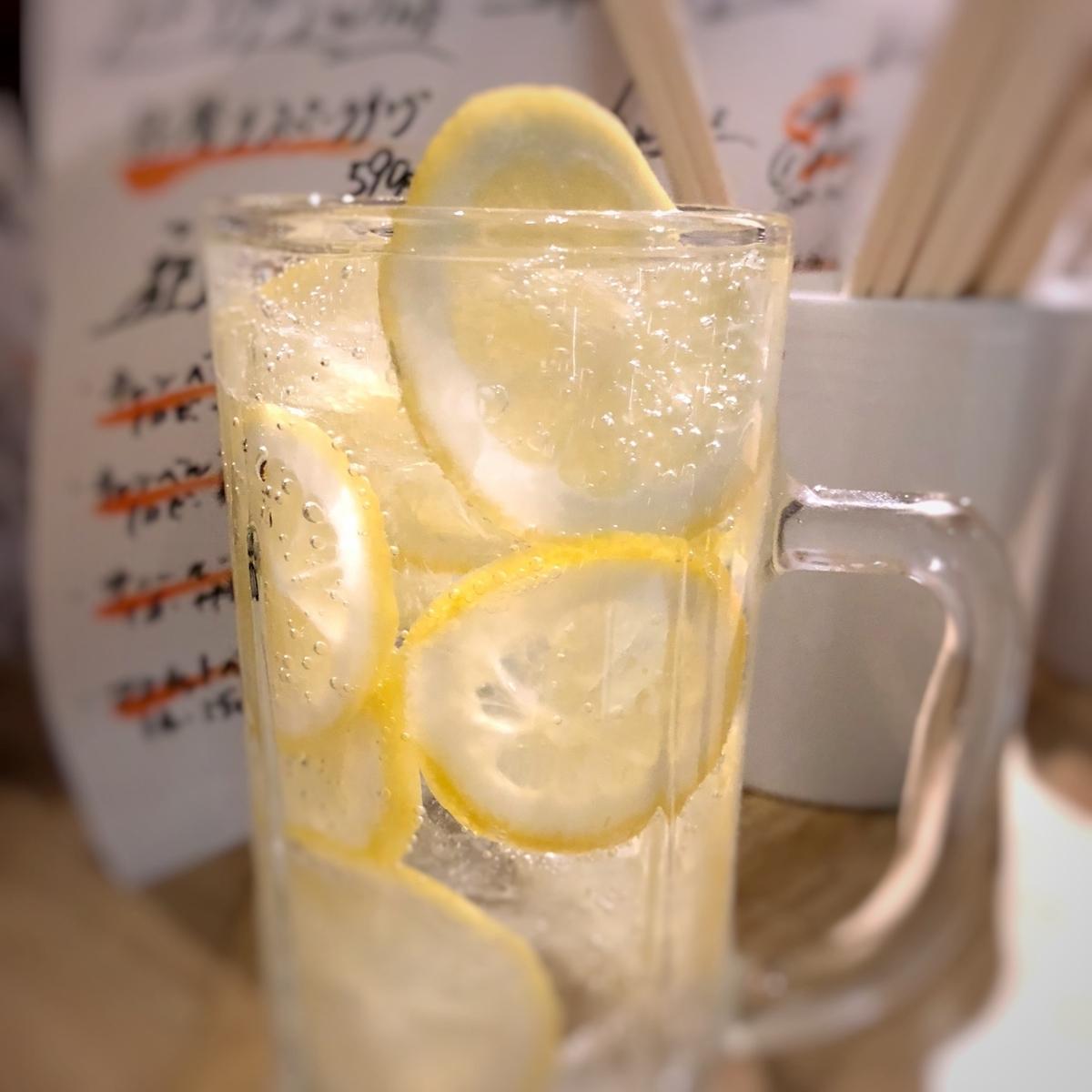 レモンたっぷりチューハイイメージ