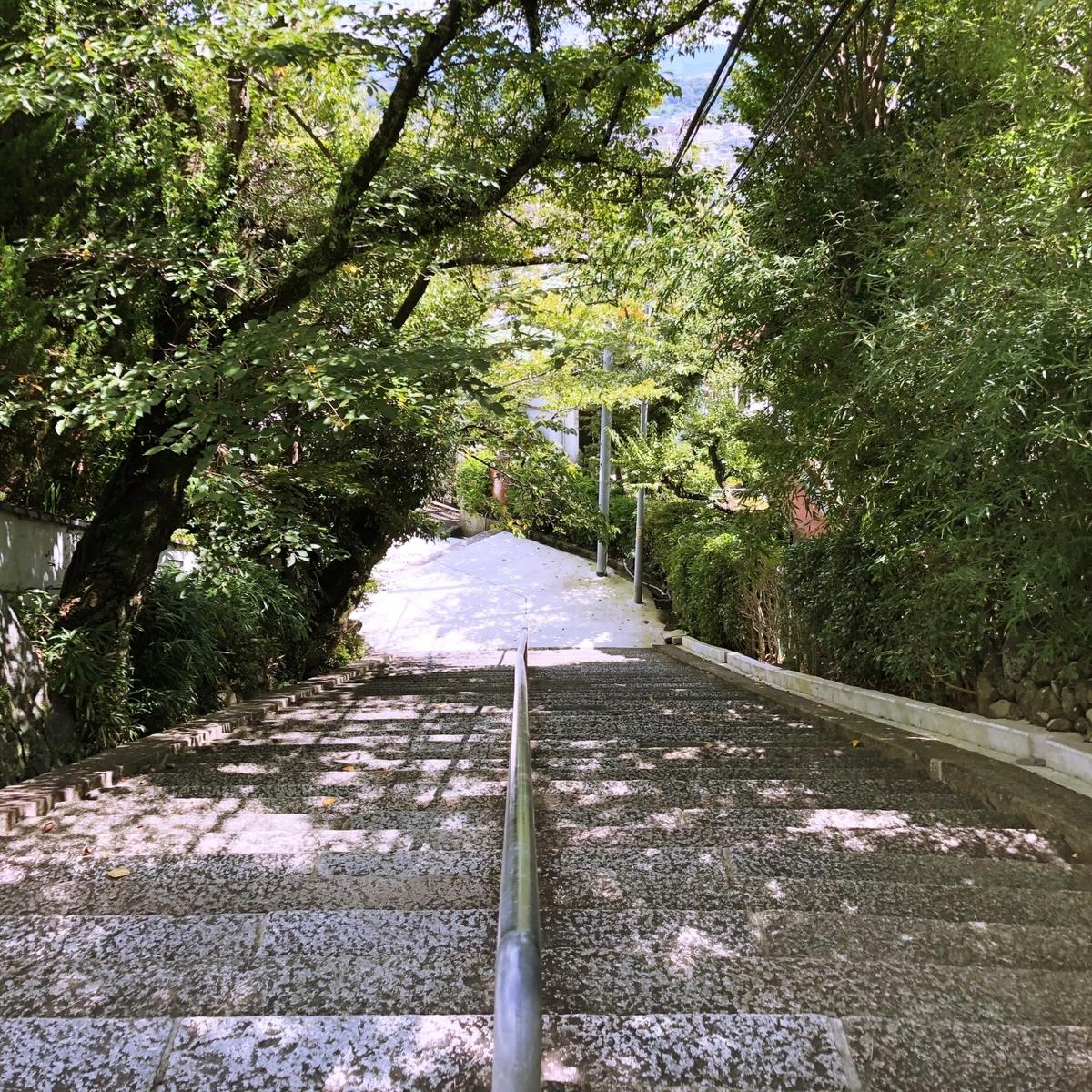 散歩道の石段イメージ