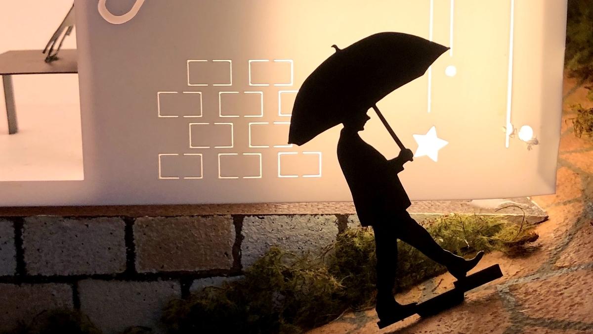 傘をさす人のイメージ