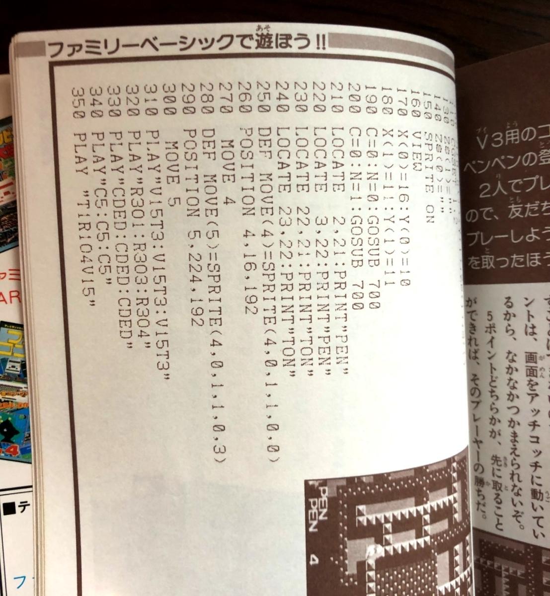 ファミリーベーシックのプログラムイメージ