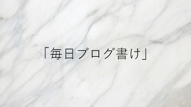 イケダハヤト曰く「毎日ブログを書け」