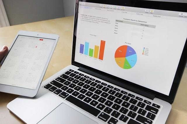 ノートブック ラップトップ スマホ 棒グラフ 円グラフ MacBook ダッシュボード