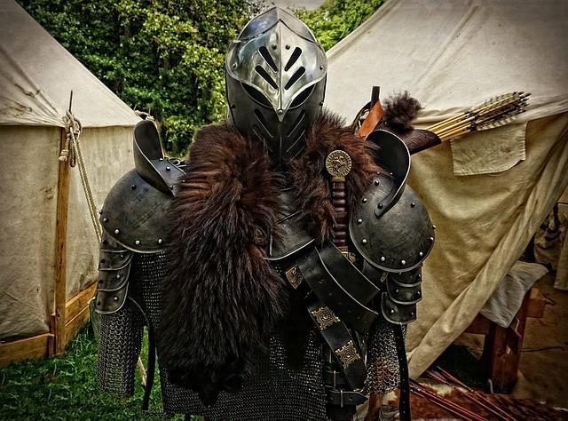 西洋 甲冑 弓矢 騎士