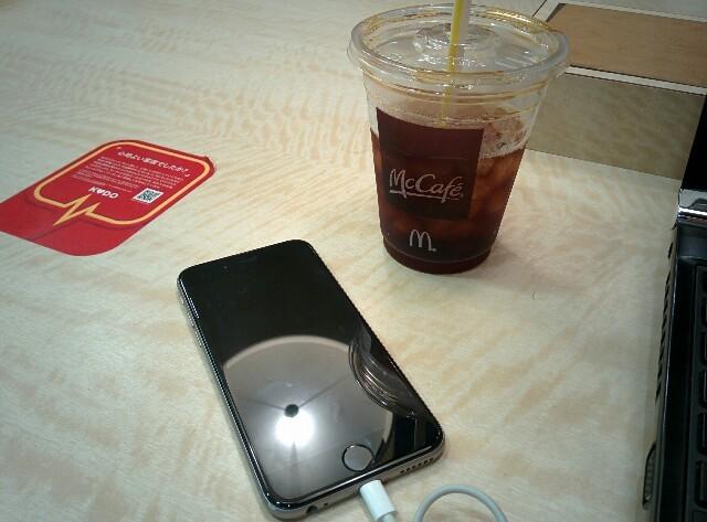iphone マックカフェ コーヒー
