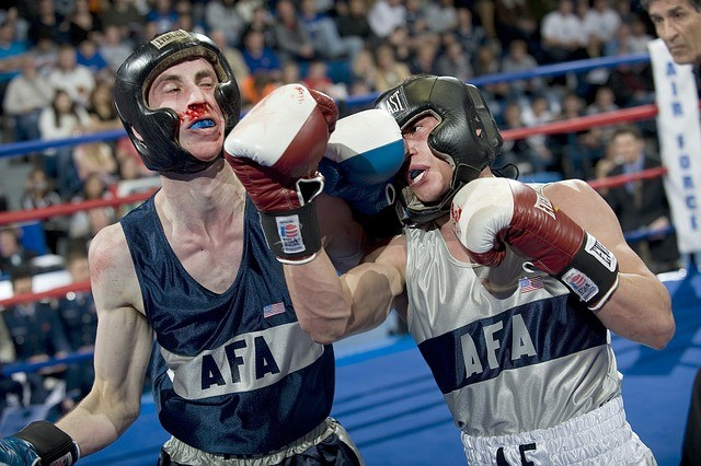 ボクシング ファイト リング 鼻血