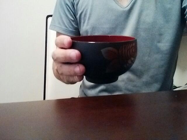 お茶碗のコップ持ち