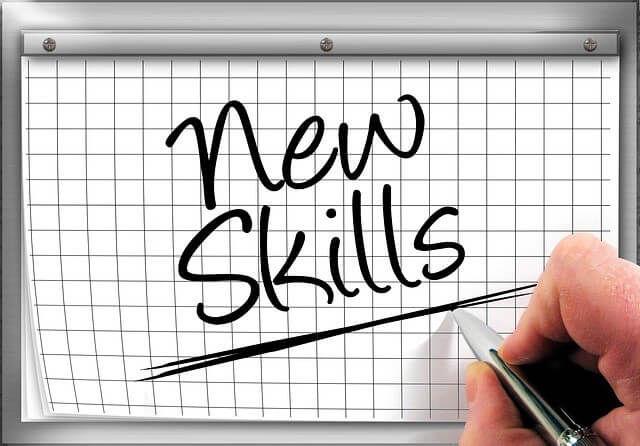new skillとペンで書かれた5ミリ方眼紙