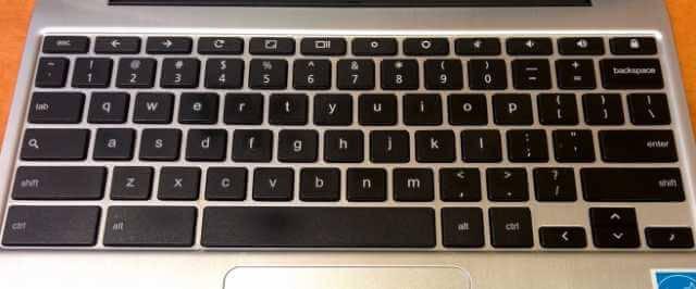 Chromebookのキーボードの写真