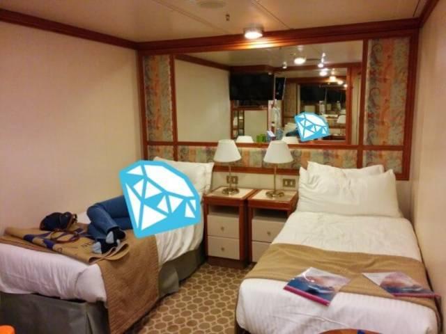 ダイヤモンド・プリンセスの内側客室全景