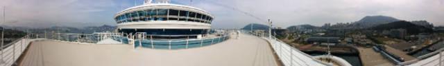 ダイヤモンド・プリンセスから眺めた釜山港
