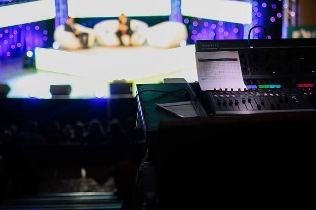 テレビ番組の撮影スタジオ