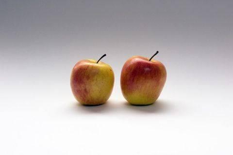 りんごが2つ