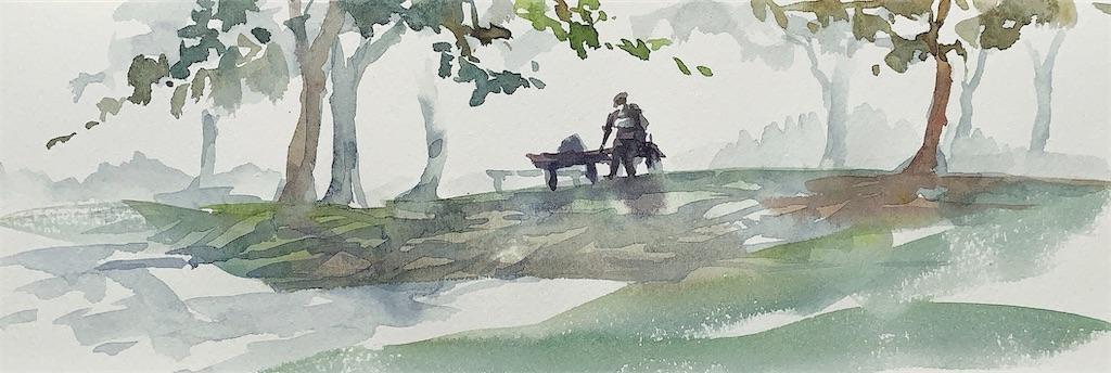 水彩画 風景画 スケッチ 大阪 長居植物園