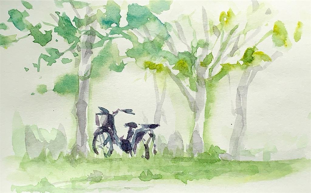 水彩スケッチ 風景スケッチ 水彩画 風景画 大阪城公園