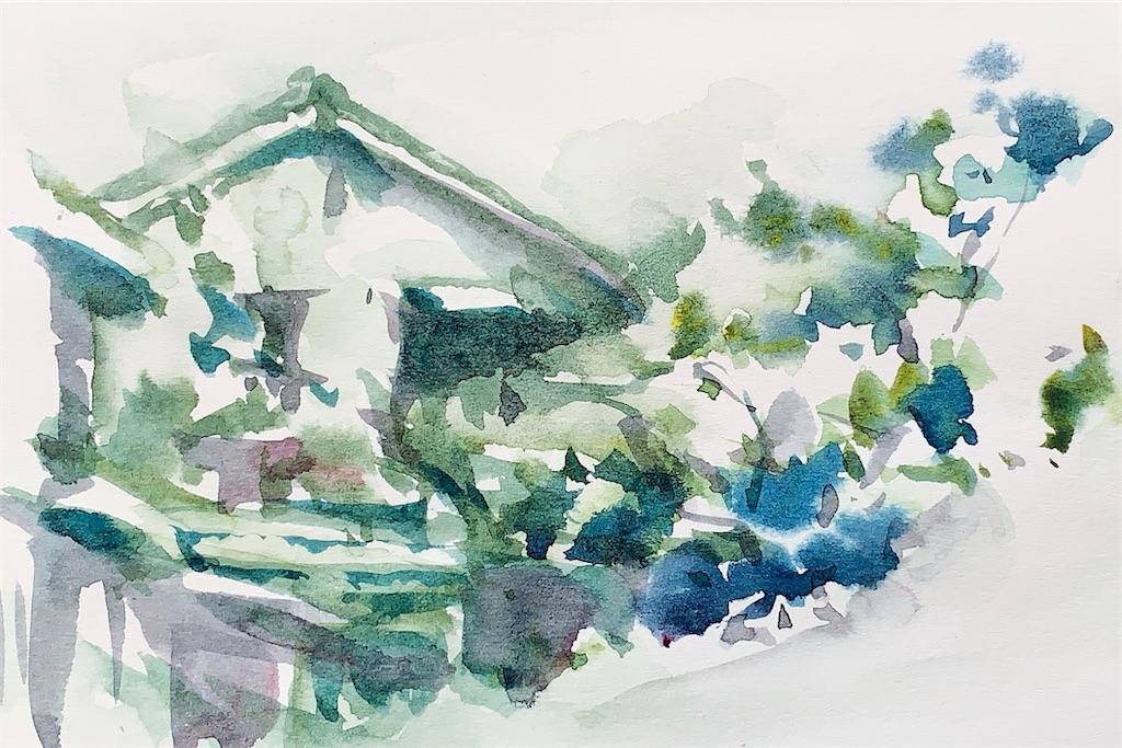 水彩スケッチ 風景スケッチ 水彩画 風景画 京都 東山 祇園 白川
