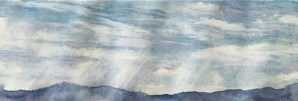 大阪ATCの風景を水彩でスケッチ