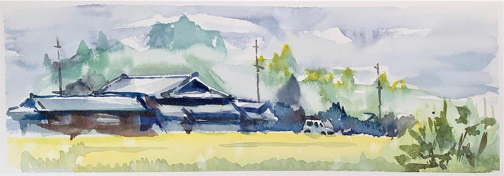 大阪汐ノ宮の風景を水彩でスケッチ