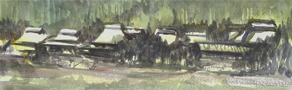 滋賀の葛川にて水彩で風景スケッチ