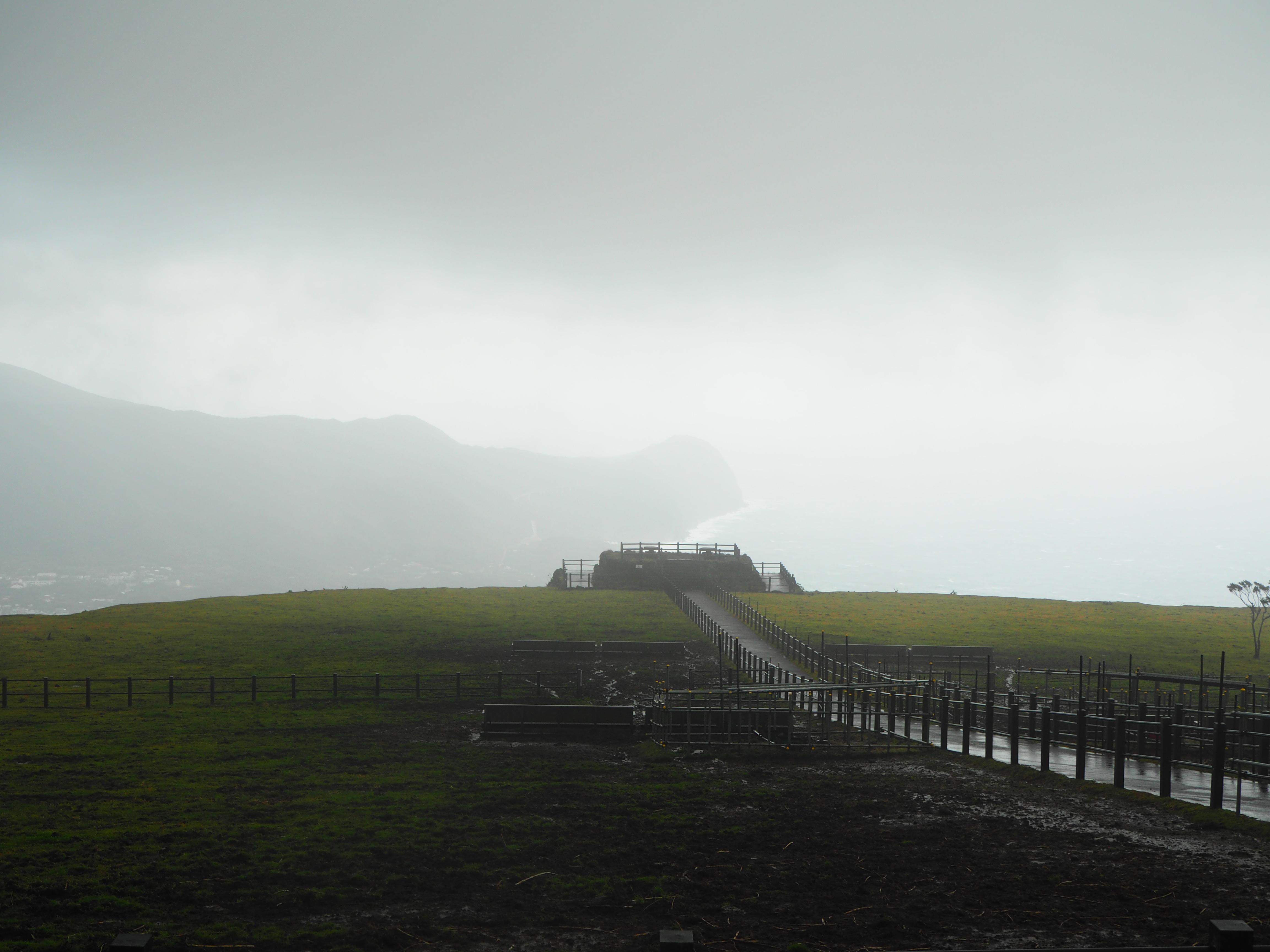 八丈島 牧場 八丈富士