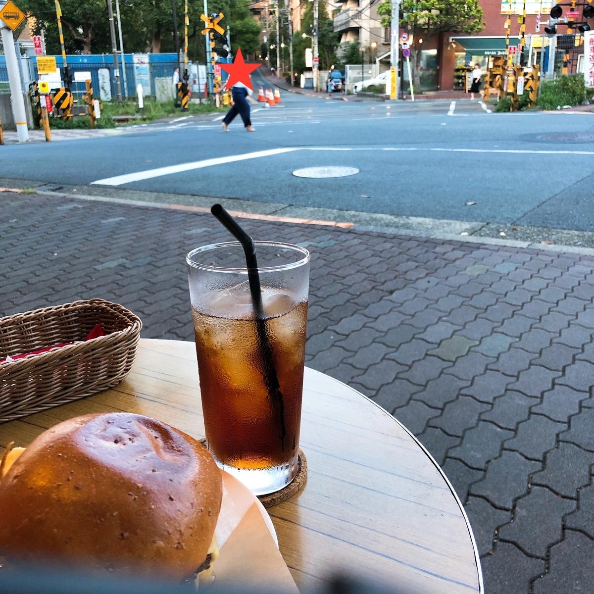 多摩川駅 ハンバーガー