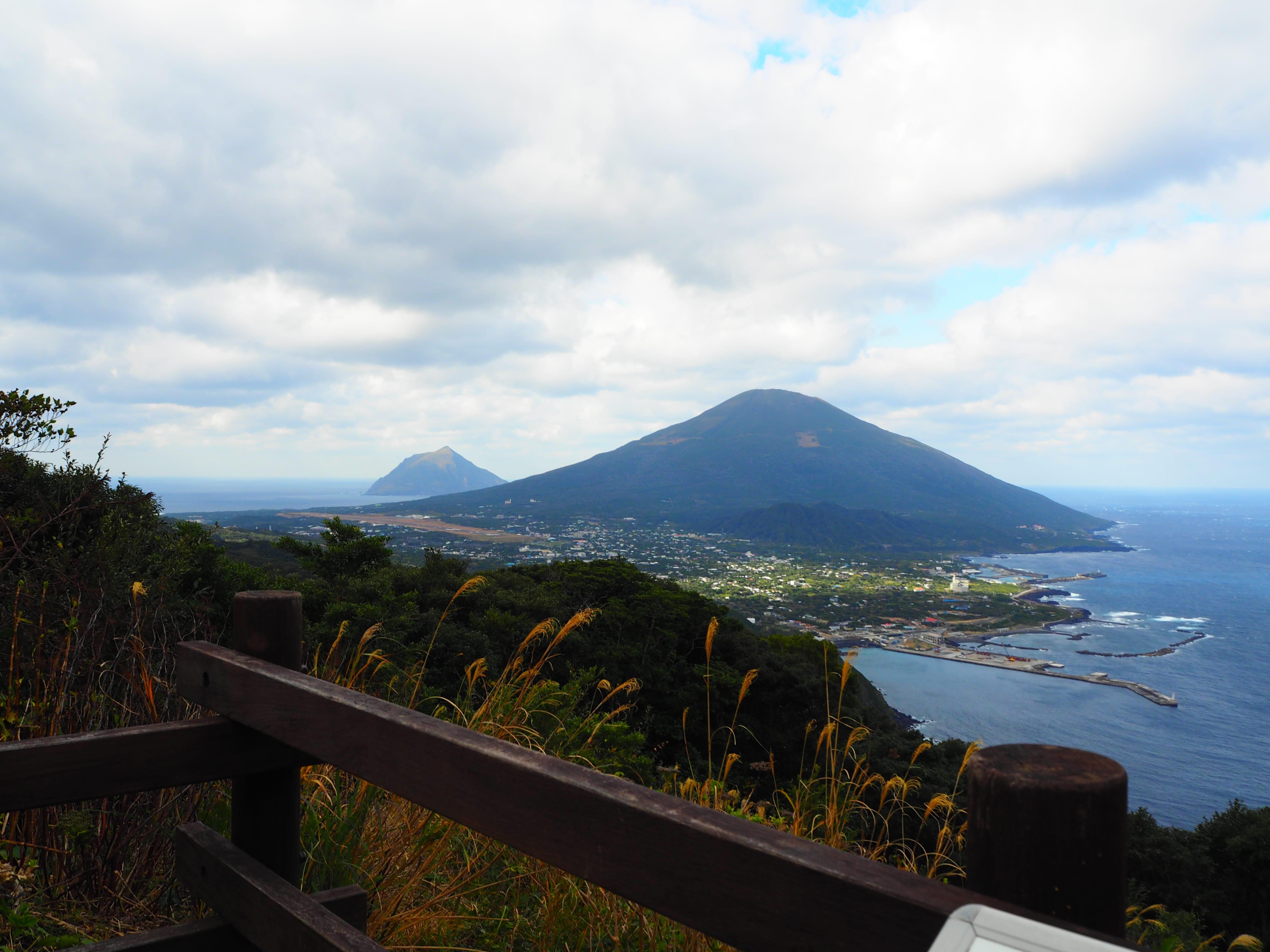 登龍峠展望 八丈島