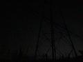 夜の鉄塔群